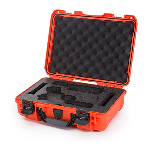 Nanuk Pistol Case 1 Nanuk 910 2UP Waterproof Hard Case w/Custom Foam Insert for Glock Pistols - Orange