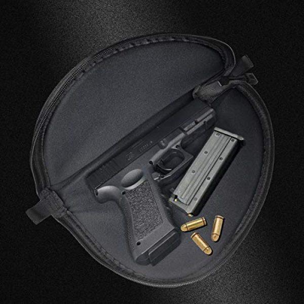 Champlus Pistol Case 5 Champlus Pistol Rug Extra Durable 900 Denier with Ultra Soft Neoprene Liner Pistol Bag Soft Pistol Case Handgun Case Handgun Rug Pistol Storage Bag-Black