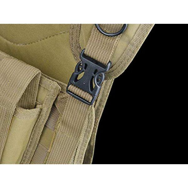 HHFC Airsoft Tactical Vest 6 HHFC Outdoor Nylon Tactical Vest Security Guard Waistcoat Field Combat Training Protective Vest Tactical Molle Airsoft Vest Paintball Combat Soft Vest
