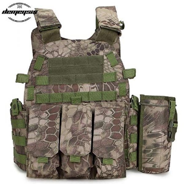 BGJ Airsoft Tactical Vest 5 Tactical Molle Vest Nylon Body Armor Hunting Plate Carrier Airsoft Paintball Vest with Magazine Pouch CS Game Combat Gear