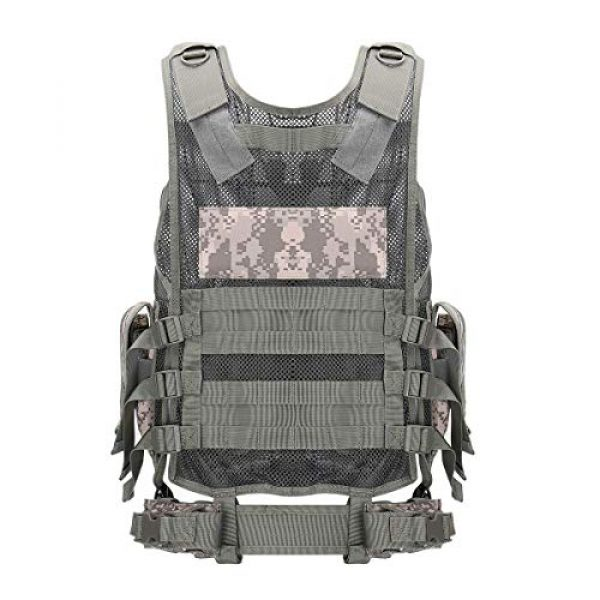 GXYWAN Airsoft Tactical Vest 4 GXYWAN Tactical CS Field Vest Paintball Training Airsoft Ultra-Light Breathable Combat Adjustable Vest