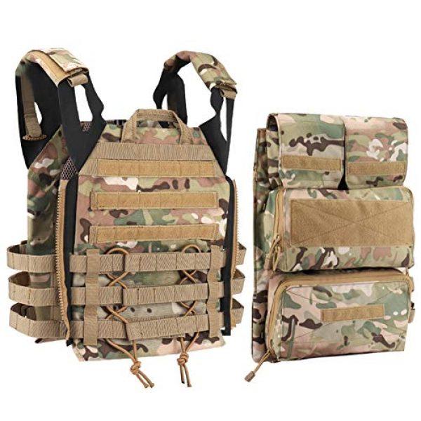 OAREA Airsoft Tactical Vest 4 OAREA TMC Multicam Pouch Bag Zip Panel NG Version for 16-18 AVS JPC2.0 CPC Tactical Vest