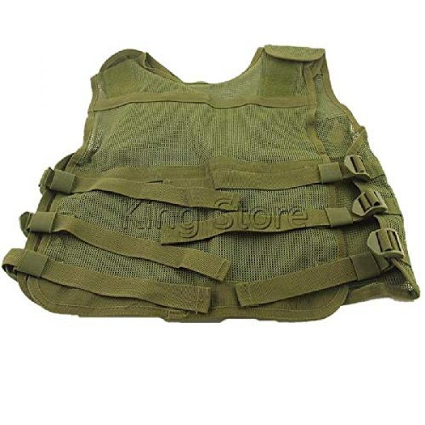 BGJ Airsoft Tactical Vest 4 Tactical Small Fishing Vest Summer Hunting Mens Multi-Pockets Airsoft Vest Black Color Outdoor Sport Military Equipment