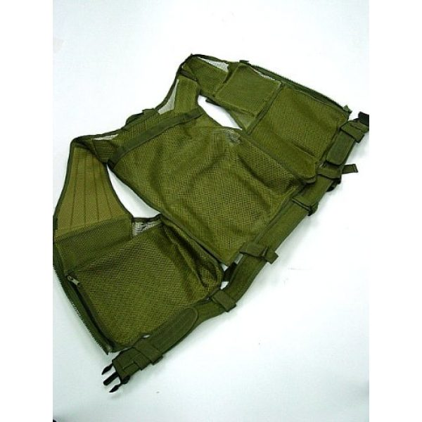 Airsoft Airsoft Tactical Vest 2 Airsoft Deluxe Airsoft Tactical Combat Mesh Vest OD