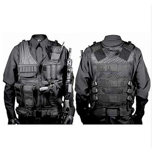 Moontie Airsoft Tactical Vest 3 Moontie Tactical Vest, Multi-Pocket SWAT Army CS Hunting Vest Camping Hiking Accessories Outdoor Hunting Hiking Camping Equipment