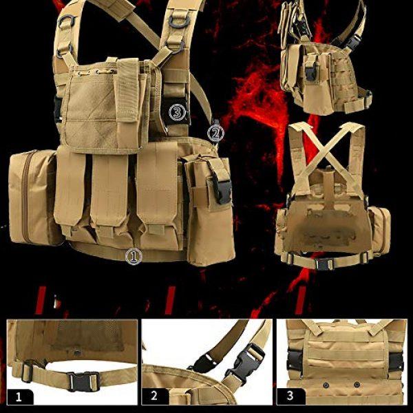 WEQ Airsoft Tactical Vest 6 WEQ Multifunctional Tactical Vest Modular Vest Reconnaissance Field CS Combat Vest (Color : #E)
