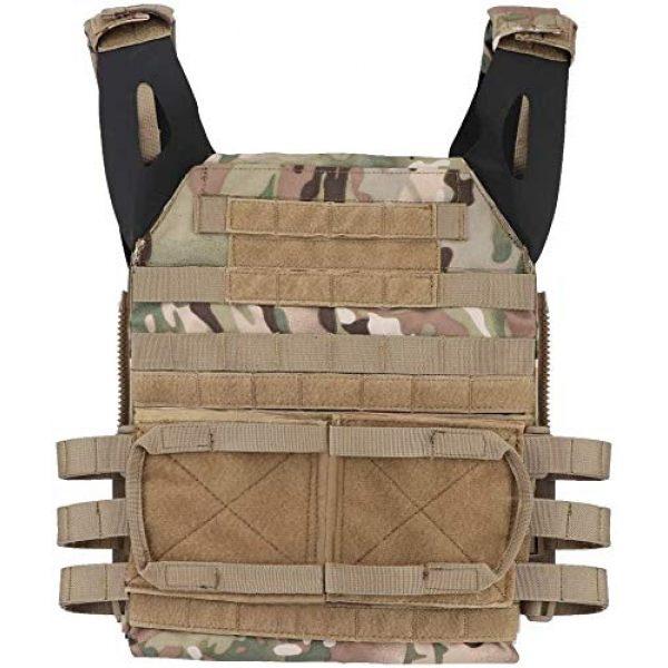 Kayheng Airsoft Tactical Vest 6 Kayheng Tactical Vest + Backpack/Modular Vest + Backpack/Breathable Combat Training JPC Vest Adjustable Lightweight MOLLE Vest