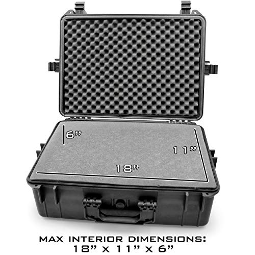 """CASEMATIX Pistol Case 5 CASEMATIX 23"""" Customizable 7 Pistol Multiple Pistol Case - Waterproof & Shockproof Hard Gun Cases for Pistols, Magazines and Accessories - Multi Gun Case for Pistols with Two Layers of 2"""" Thick Foam"""