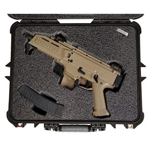 Case Club Pistol Case 2 Case Club CZ Scorpion EVO 3 S1 Pistol & S2 Pre-Cut Waterproof Pistol Case with Silica Gel to Help Prevent Gun Rust (Gen 2)