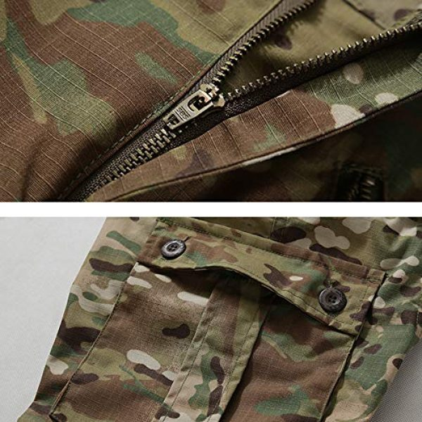 Hellmei Tactical Pant 4 Men's Tactical Pants with Multiple Pockets Men's Military Tactical Casual Camouflage Pants Hiking Pants