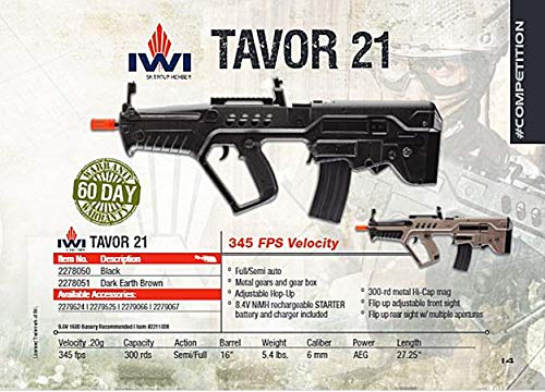 Elite Force  2 Elite Force IWI Tavor AEG 6mm BB Rifle Airsoft Gun