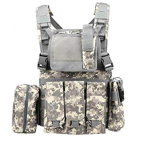 WEQ Airsoft Tactical Vest 1 WEQ Multifunctional Tactical Vest Modular Vest Reconnaissance Field CS Combat Vest (Color : #B)