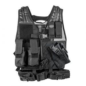 Valken Airsoft Tactical Vest 1 Valken Tactical Crossdraw Vest - Youth - Black