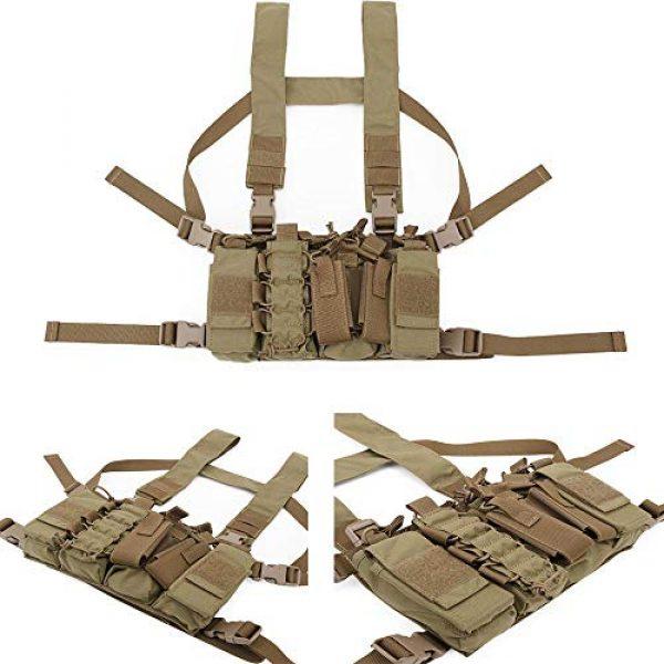 Jadedragon Airsoft Tactical Vest 4 Jadedragon Tactical CS Field Vest Adjustable Ultra-Light Breathable Chest Rig Outdoor Training Vest