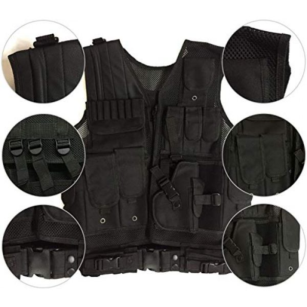 HAOWUTX Airsoft Tactical Vest 3 HAOWUTX Tactical Vest Outdoor Military Vest Wild Adventure Airsoft Hunting Tactical Vest