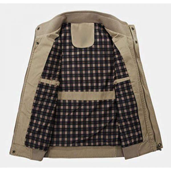 DAFREW Airsoft Tactical Vest 5 DAFREW Men's Vest Outdoor Leisure Vest Cotton Sleeveless Jacket Autumn and Winter Warm Multi-Pocket Vest Vest (Color : Khaki, Size : XL)
