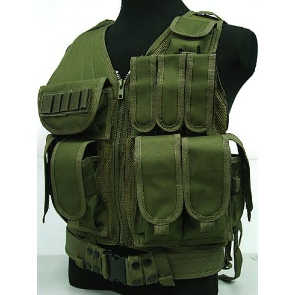 Airsoft Airsoft Tactical Vest 1 Airsoft Deluxe Airsoft Tactical Combat Mesh Vest OD