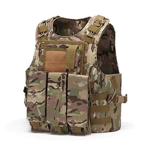 WEQ Airsoft Tactical Vest 1 WEQ Tactical Vest Outdoor Amphibious Vest Ultra-Light Breathable Combat Training Vest Adjustable for Adults(Standard Size) (Color : #E)