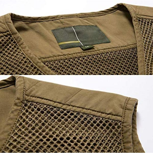 DAFREW Airsoft Tactical Vest 4 DAFREW Multi-Pocket Vests Vests Men's Casual Fishing Photography Vests mesh Breathable Vest (Color : Army Green, Size : L)