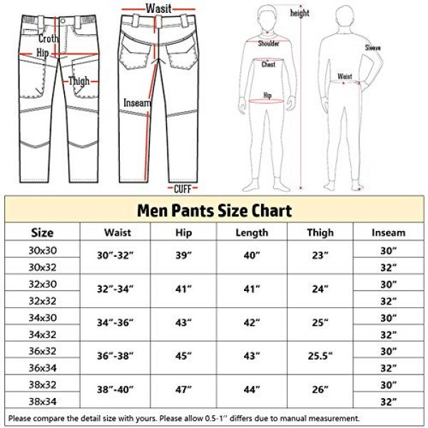 CARWORNIC Tactical Pant 7 Gear Men's Assault Tactical Pants Lightweight Cotton Outdoor Military Combat Cargo Trousers