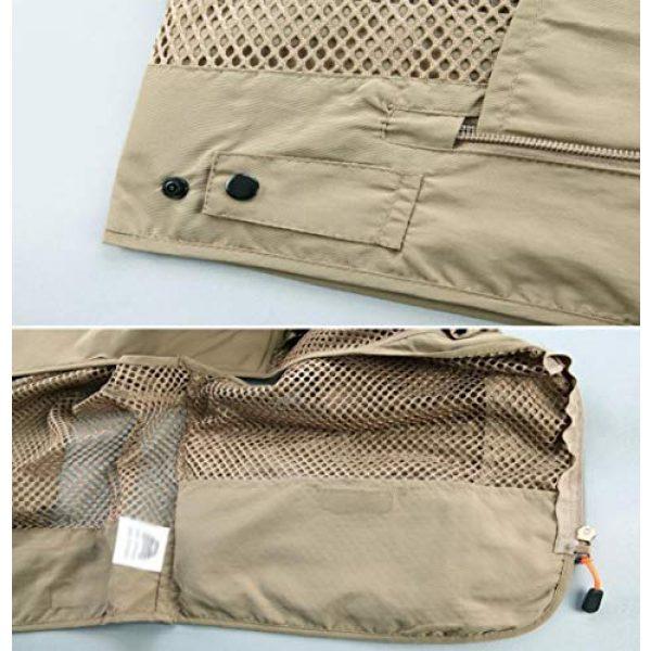 DAFREW Airsoft Tactical Vest 7 DAFREW Casual Vest Multi-Pocket Quick-Drying Vest mesh Breathable Vest Outdoor Leisure Fishing Photography Vest (Color : Green, Size : L)