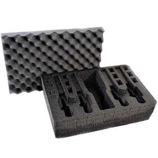 MY CASE BUILDER Pistol Case 1 Pistol & Magazine Storage Foam Insert for Pelican P-1500 Case -2 Piece Set Pre-Cut Military Grade Polyethylene Foam Base Insert and Lid Liner (Case Not Included)