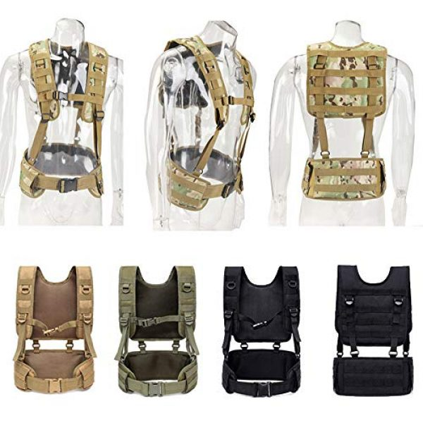 Sunny Airsoft Tactical Vest 2 Outdoor Sports Airsoft Gear Molle Pouch Bag Carrier Camouflage Combat Assault Molle Vest Tactical Chest Rig