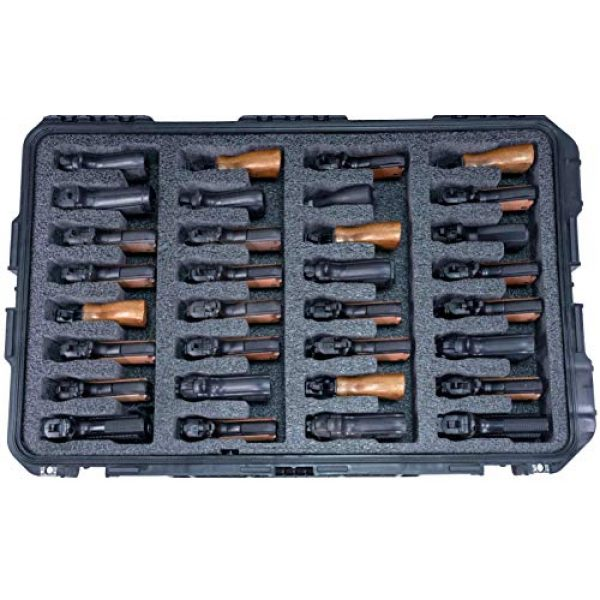Case Club Pistol Case 2 Case Club 32 Pistol Pre-Cut Waterproof Case with x2 Silica Gel to Help Prevent Gun Rust