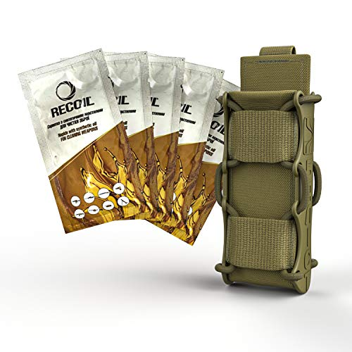 ATAIRSOFT  1 ATAIRSOFT KOLCHAN Fast MAG Tactical Top Open Single 9mm and 7.62mm Pistol Magazine Holder Very Durable of 1000 D Cordura fastmag Holster and MOLLE Compatible Airsoft Hunting Shooting