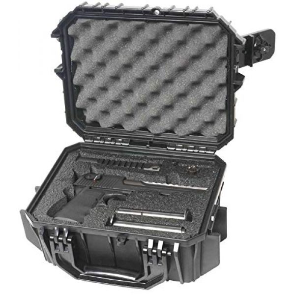 Case Club Pistol Case 4 Case Club Desert Eagle Pre-Cut Waterproof Case with Storage for 4 Extra Magazines & 1 Extra Barrel
