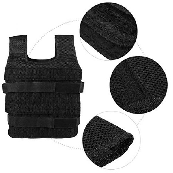 Aiggend Airsoft Tactical Vest 3 Tactical Vests, 50KG Weighted Vest Strength Training Jacket for Workout Fitness