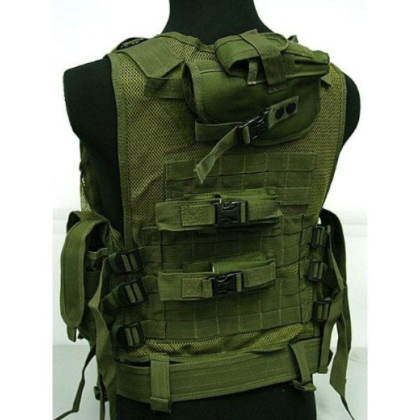 Airsoft Airsoft Tactical Vest 4 Airsoft Deluxe Airsoft Tactical Combat Mesh Vest OD