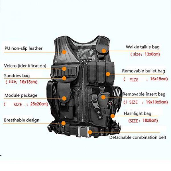WEQ Airsoft Tactical Vest 2 WEQ Tactical Vest Modular Charge Vest Police Vest Law Enforcement Vest Adjustable Breathable Combat Training Vest