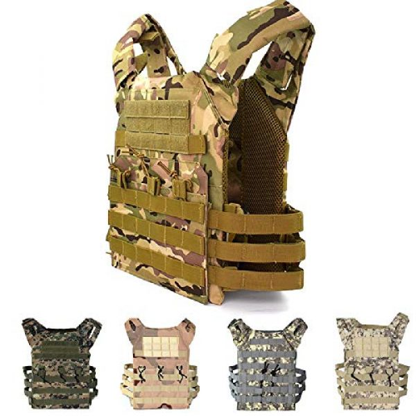 BGJ Airsoft Tactical Vest 5 Tactical Vest Hunting Body Armor Molle Plate Carrier Vest Outdoor Paintball Airsoft Vest Military Equipment