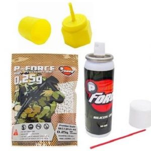 P-Force Airsoft BB 1 PForce Airsoft Gas Gun Starter Kit - Propane Adaptor, Silicone Oil, 4,000 Premium BB's