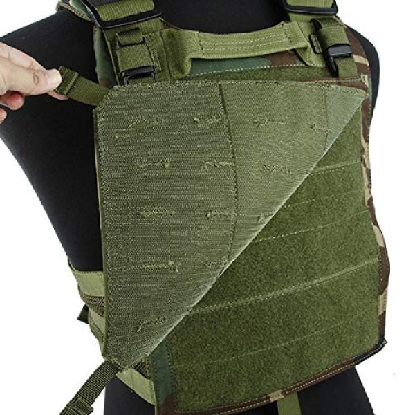 BGJ Airsoft Tactical Vest 4 BGJ Outdoor Tactical Vest Woodland 500D Cordura Domestic Fabric