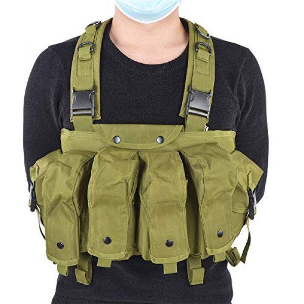 Yosoo Airsoft Tactical Vest 6 Yosoo Tactics Training Bag,Nylon Outdoor Tactics Vest Military Fan Camouflage Waistcoat Training Bag Equipment