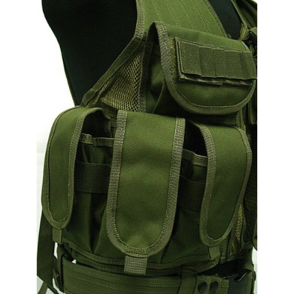 Airsoft Airsoft Tactical Vest 3 Airsoft Deluxe Airsoft Tactical Combat Mesh Vest OD