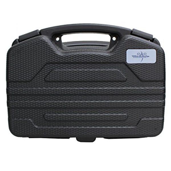 SAS Pistol Case 2 SAS Pistol Lockable Heavy Duty Hard Case Pluck Foam with Locking Holes for Archery Accessories or Handgun