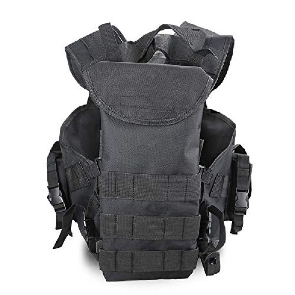 BGJ Airsoft Tactical Vest 7 Tactical Police Military Vest Wargame Sports Wear Airsoft Paintball Carrier Strike Vest with Water Bag