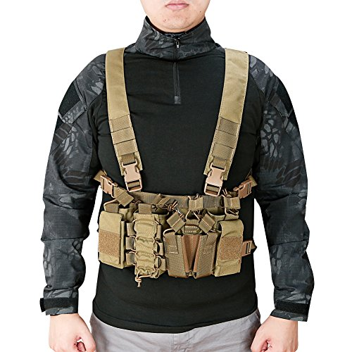 DETECH Airsoft Tactical Vest 7 DETECH Tactical Chest Rig Combat Recon Gear Vest with Magazine Pouch for Airsoft Hunting Games