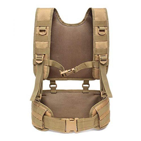 BGJ Airsoft Tactical Vest 5 Combat Molle Pals Tactical Waist Belt Combat Removable Waist Battle Padded Belt H-Shaped Suspender Harness Airsoft Wargame Vest
