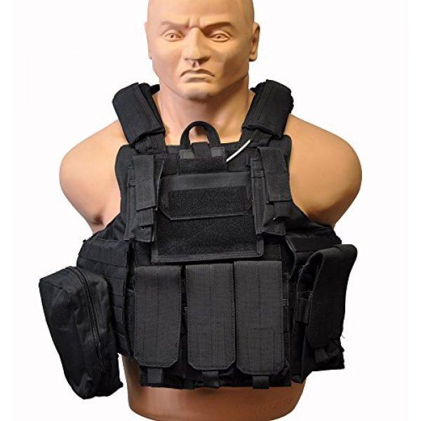 KTW Airsoft Tactical Vest 1 KTW Airsoft Tactical Molle Vest M-XL w/Multiple Pouches (Black)