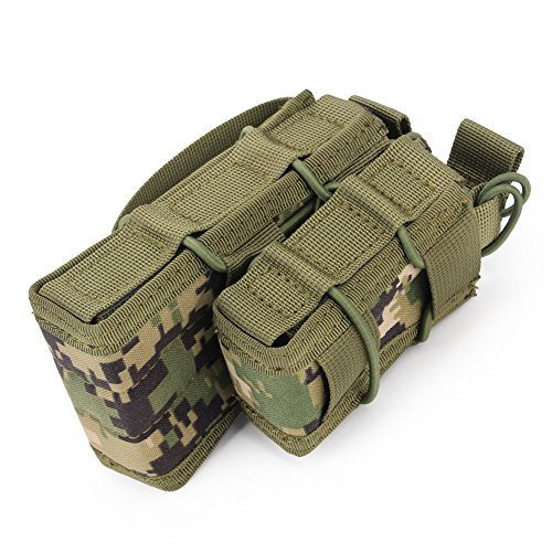 ATAIRSOFT  3 ATAIRSOFT Tactical 1000D Nylon Double MAG Pouch for Hunting Wargame Airsoft Molle Magazine Pouch