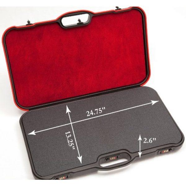 Negrini Cases Pistol Case 3 Negrini Cases MOD.8TS/4823 4 Handgun Case, Black/Black