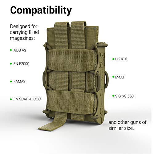 ATAIRSOFT  3 ATAIRSOFT KOLCHAN Fast MAG Mini Pouch 5.56mm 7.62mm 5.45mm Top Open Magazine Pouches Airsoft Hunting Equipment Holder Very Durable of 1000 D Cordura fastmag Holster and MOLLE Compatible