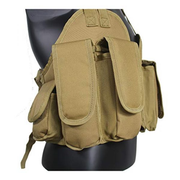 Yoghourds Airsoft Tactical Vest 7 Yoghourds Tactical Vest for Men Airsoft Guns Vest Adjustable Outdoor Combat Training Vest Ultra-Light Breathable for Adults in Hunting Fishing CS Field