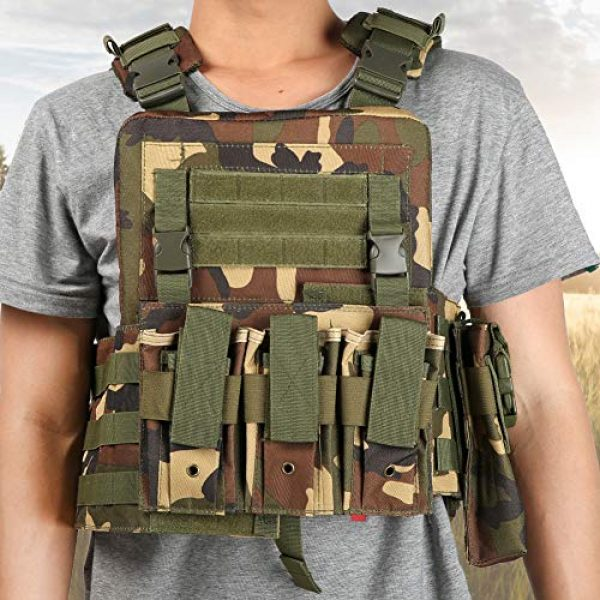 Meiyya Airsoft Tactical Vest 7 Meiyya Lightweight Molle Tactics Wear Resistant Adjustable Outdoor Waistcoat, Outdoor Tactics Waistcoat, Multi Pocket for Put Items Items