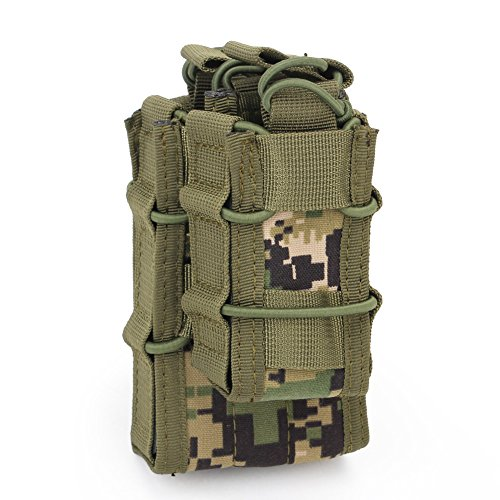ATAIRSOFT  1 ATAIRSOFT Tactical 1000D Nylon Double MAG Pouch for Hunting Wargame Airsoft Molle Magazine Pouch