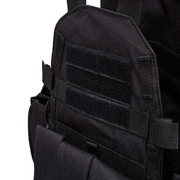 BGJ Airsoft Tactical Vest 7 Hunting Airsoft Multicam Molle Nylon Modular Vest Tactical Combat Black Vests Outdoor 6094 Vests Military Men Clothes Army Vest